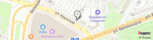 У мангала на карте Нижнего Новгорода
