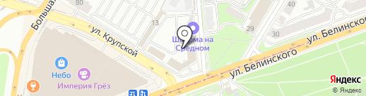 Магазин овощей и фруктов на карте Нижнего Новгорода