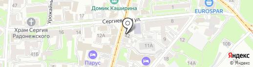 Джеронимо на карте Нижнего Новгорода