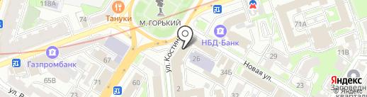 Павловский лимон на карте Нижнего Новгорода