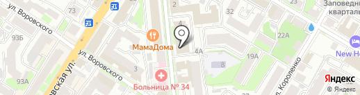 В-объем на карте Нижнего Новгорода