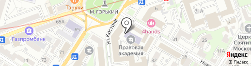 Нижегородская Правовая Академия на карте Нижнего Новгорода
