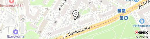 Один дома на карте Нижнего Новгорода