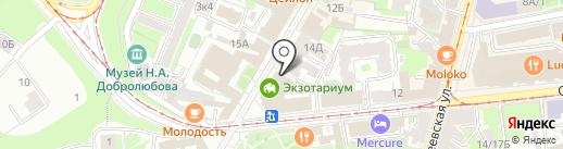 На Покровке на карте Нижнего Новгорода
