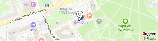 Банкомат, МТС-банк, ПАО на карте Нижнего Новгорода