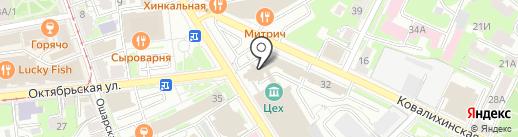 Труд на карте Нижнего Новгорода
