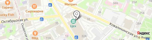 Супер на карте Нижнего Новгорода