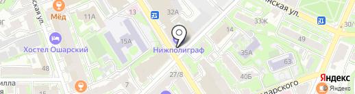 СБР-К на карте Нижнего Новгорода