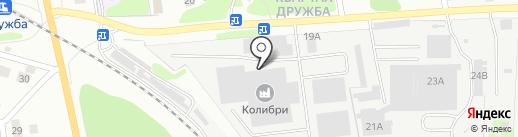 Колибри на карте Бора