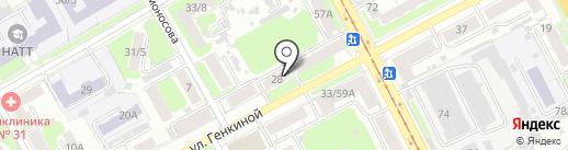 Юридическая компания на карте Нижнего Новгорода