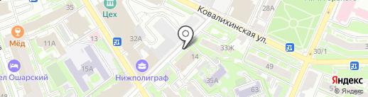 Киоск печатной продукции на карте Нижнего Новгорода