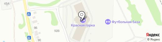 Красная горка на карте Бора