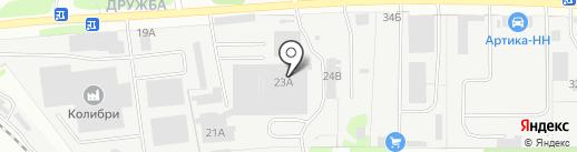СВС на карте Бора