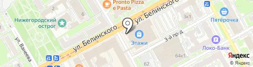 Premier Lux на карте Нижнего Новгорода
