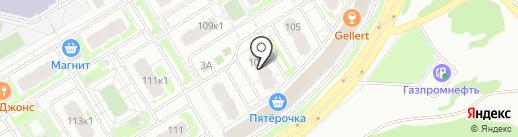 Парикмахерская №1 на карте Нижнего Новгорода