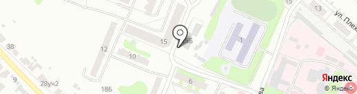 Сластена на карте Бора