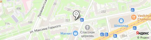 Здрава на карте Нижнего Новгорода