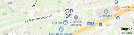 Ценовал на карте Нижнего Новгорода