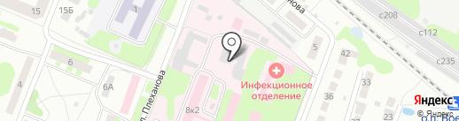Борская центральная районная больница на карте Бора