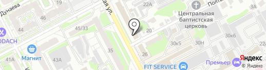 Amore на карте Нижнего Новгорода