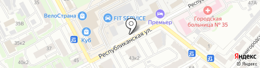 Forward на карте Нижнего Новгорода
