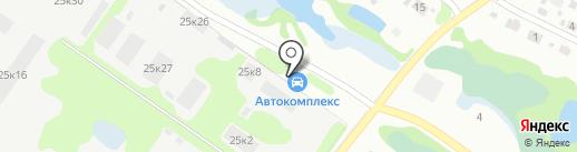 Автокомплекс на карте Бора