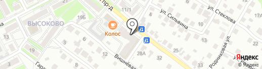 Сладкая радуга на карте Нижнего Новгорода