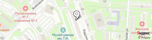 ВВС на карте Нижнего Новгорода