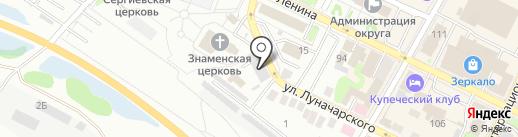 Борский РЭС на карте Бора