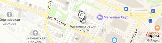 Избирательная комиссия Нижегородской области на карте Бора