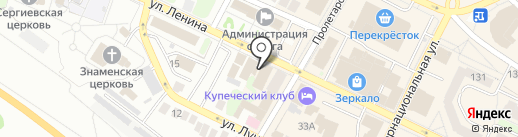 Тандем на карте Бора