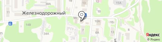 Магазин хозтоваров на карте Железнодорожного