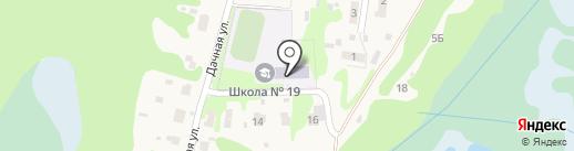Основная школа №19 на карте Железнодорожного