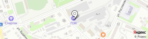ПК Бор на карте Бора