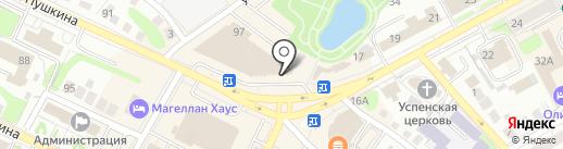 Магазин сувениров на карте Бора