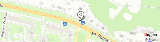 Магазин товаров для курения на карте Нижнего Новгорода