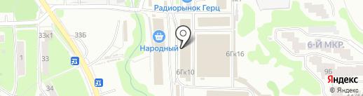 Лесоруб на карте Нижнего Новгорода