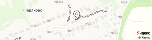 Магазин продуктов на карте Федяково