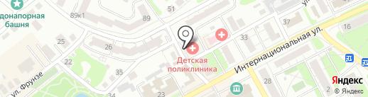 Борская детская поликлиника №1 на карте Бора