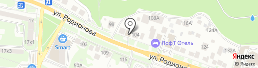Зэт Булл на карте Нижнего Новгорода