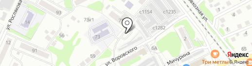 Автостоянка на карте Бора