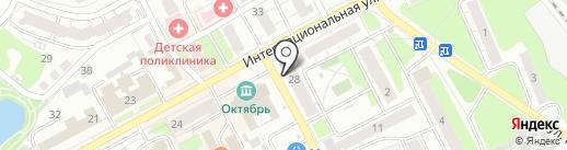 Магазин тканей на карте Бора