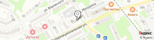 Почтовое отделение №440 на карте Бора