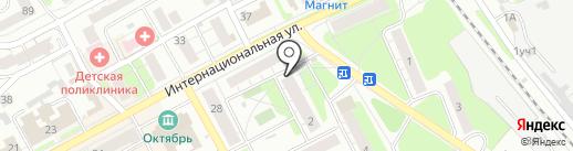 Магазин игрушек и швейной фурнитуры на карте Бора