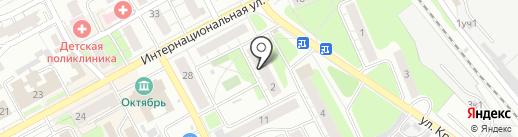 Магазин нижнего белья на ул. Крупской на карте Бора