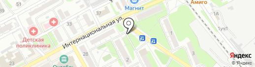 Магазин одежды на ул. Крупской на карте Бора