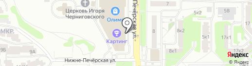 Romance на карте Нижнего Новгорода