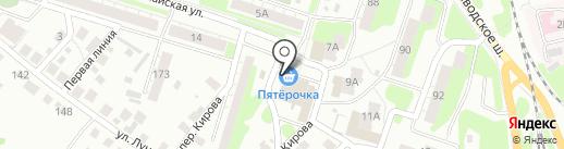 Московская ярмарка на карте Бора