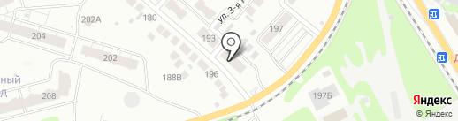 Парикмахерская на ул. Луначарского на карте Бора