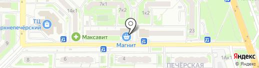 Магнит-Косметик на карте Нижнего Новгорода